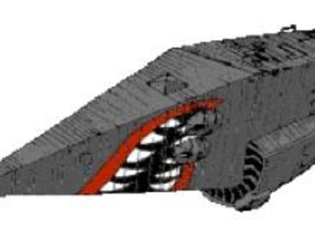 Python-Class Cruiser Model Kit 3d printed Picture from the 'Elite' traders' manual.