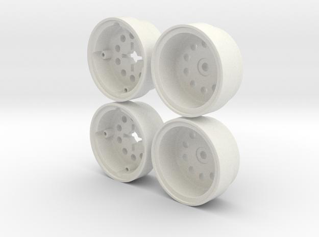 Marui Hunter/Galaxy Rear Wheel set in White Strong & Flexible