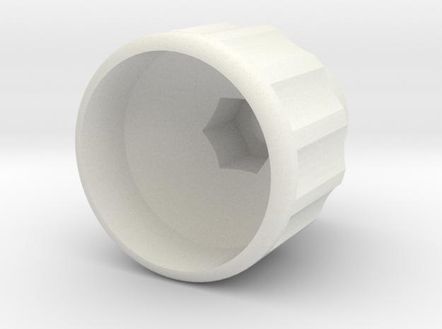 M8 - Scheppach Knob in White Natural Versatile Plastic