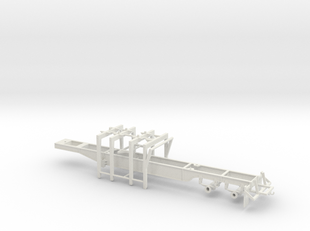 1/50th Pitts 4 bunk Straight deck log trailer in White Natural Versatile Plastic
