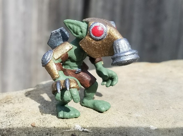 Gas Mask Goblin Trencher in Green Strong & Flexible Polished