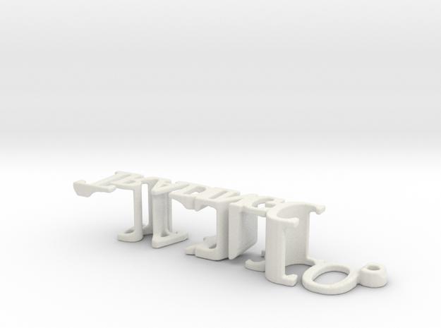 3dWordFlip: TJL/Trading CO. in White Natural Versatile Plastic