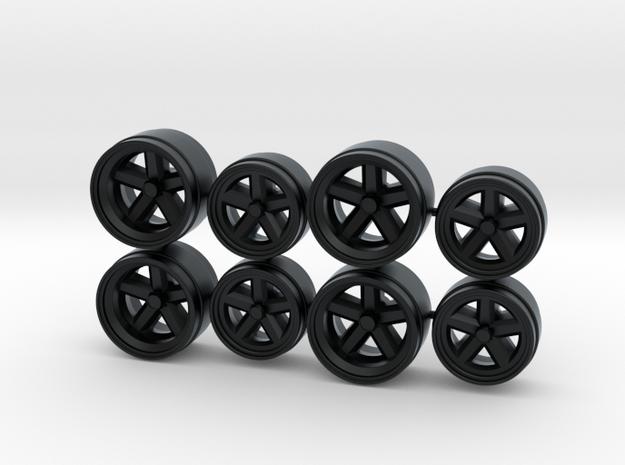 Porsche 935 917 Centerlock Hot Wheels Rims in Black Hi-Def Acrylate