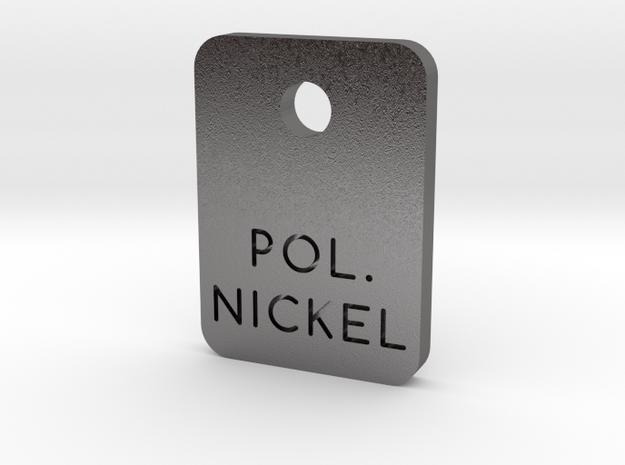 Polished Nickel Steel Finish Sample Chip in Polished Nickel Steel