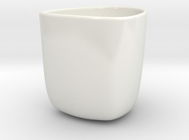 Mug Custom 180ML in Gloss White Porcelain