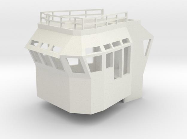 Basic Bridge fits 1/50 fits Harbor Tug in White Natural Versatile Plastic