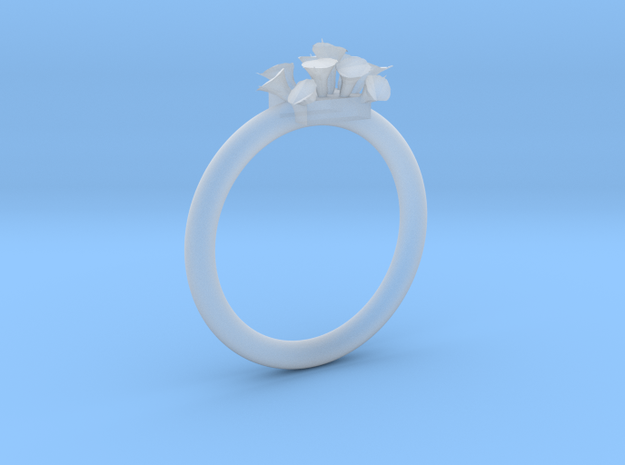 Size 10.5 Lilies Ring Customizable Size in Smoothest Fine Detail Plastic