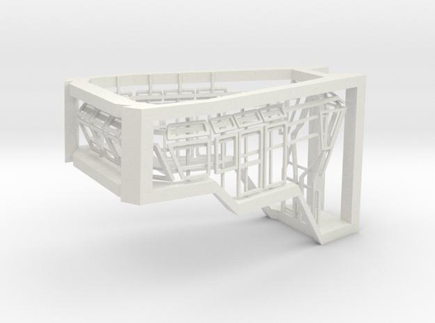 Window Frames 1/87 fit Harbor Tug Bridge  in White Strong & Flexible