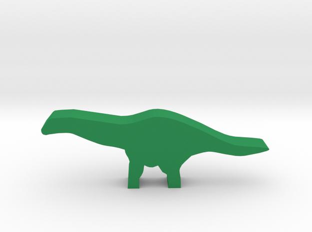 Dino Meeple, Apatosaurus in Green Processed Versatile Plastic
