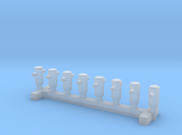 N Scale 8x Mooring Bollard 1 in Smooth Fine Detail Plastic