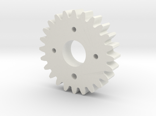 Metal/Plastic elevation gear for S3003 servo in White Strong & Flexible