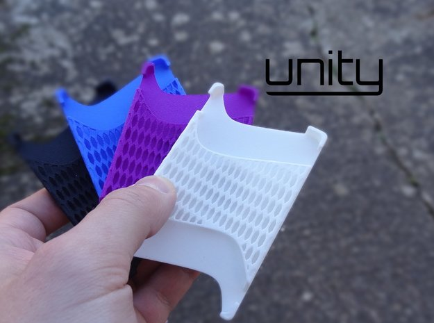 Unity Wallet and Stand in White Strong & Flexible Polished