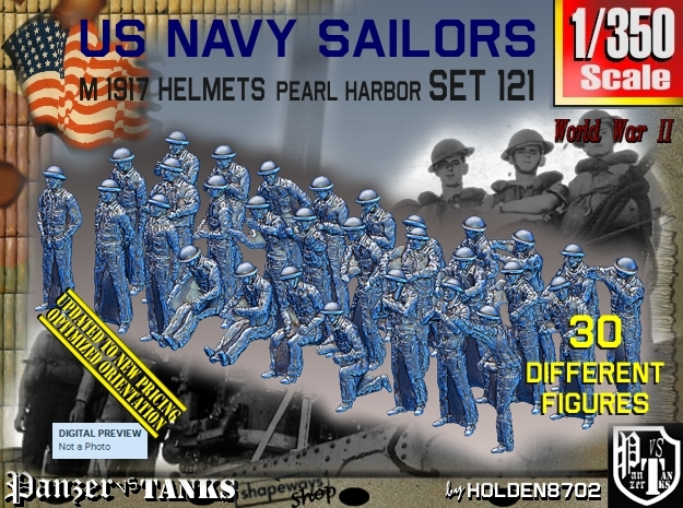 1/350 USN Pearl Harbor set 121 in Frosted Extreme Detail