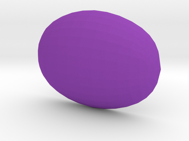 Smooth 18x13 Oval Cabochon in plastic in Purple Processed Versatile Plastic