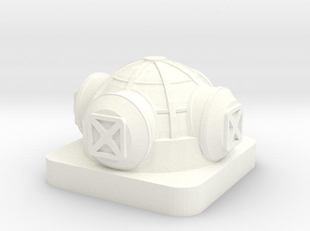 Mini Space Program, Base Habitat in White Processed Versatile Plastic