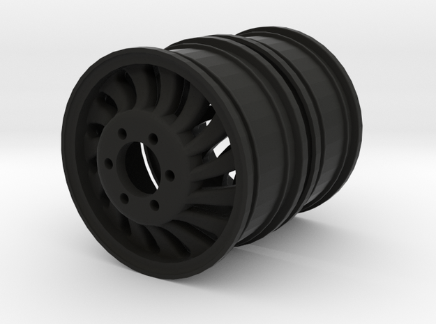 REAR 1.9 Dually Rim Twist L&R  in Black Natural Versatile Plastic