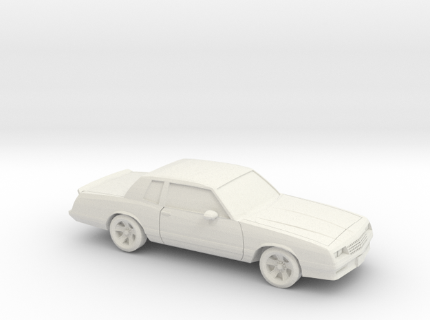 1/87 1987 Chevrolet Monte Carlo SS in White Strong & Flexible