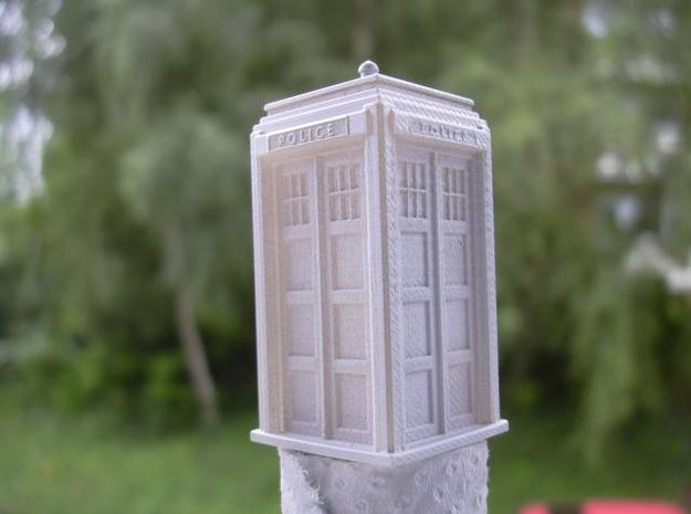 Police Signal (telephone) Box - OO (1:76) scale 3d printed Photo - primed FUD  model
