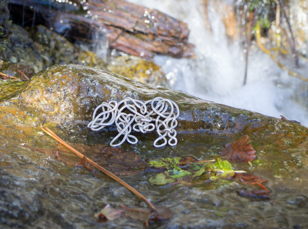 Celtic Knotted Bear in Polished Bronzed Silver Steel