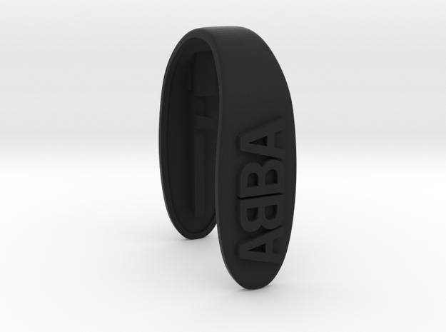 ABBA KEY FOB  in Black Natural Versatile Plastic