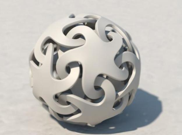 Smooth linking stars 3d printed A Cinema 4D render