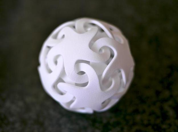 Smooth linking stars 3d printed Printed in WSF