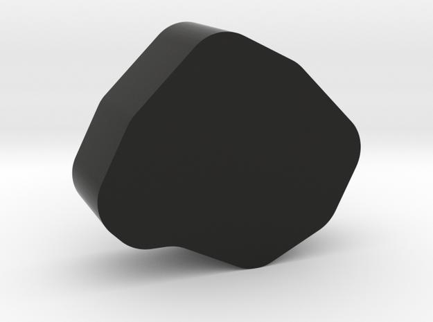 Coal Game Piece in Black Natural Versatile Plastic