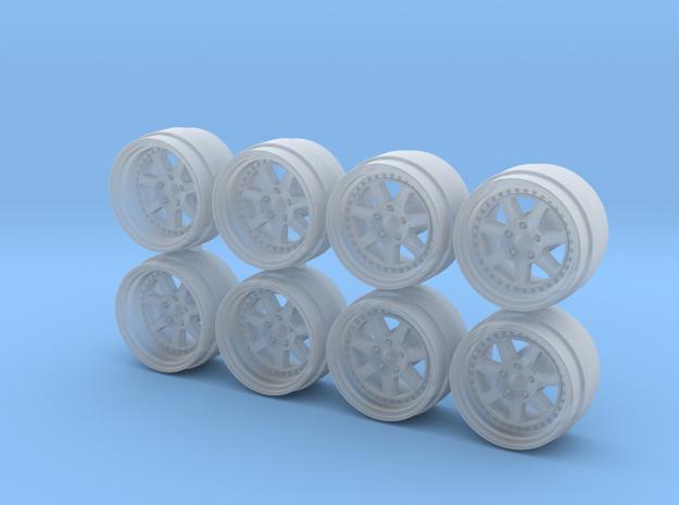 Mugen M7 Rebarreled Look Hot Wheels Rims in Smoothest Fine Detail Plastic