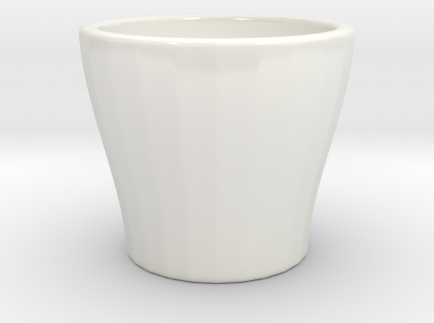 Espresso coffee cup 24 _ I in Gloss White Porcelain