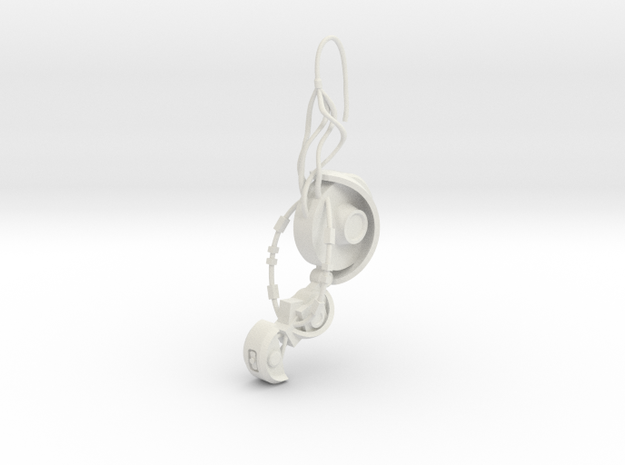 GLaDOS Earring in White Premium Strong & Flexible