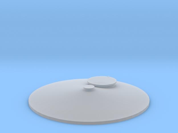 "'HO Scale' - Storage Tank Top - 1 1/4"" PVC w/o Rai in Smooth Fine Detail Plastic"