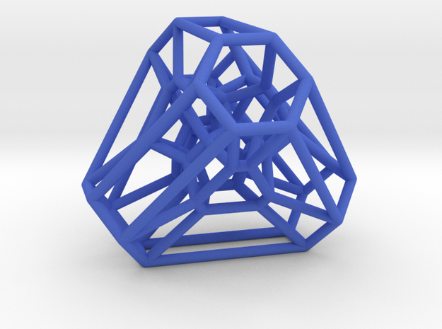 Graph Associahedron for K(4,1) in Blue Processed Versatile Plastic
