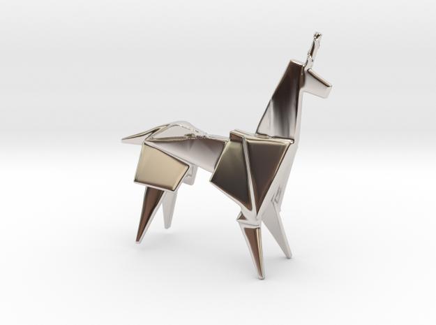 Unicorn Runner in Rhodium Plated Brass