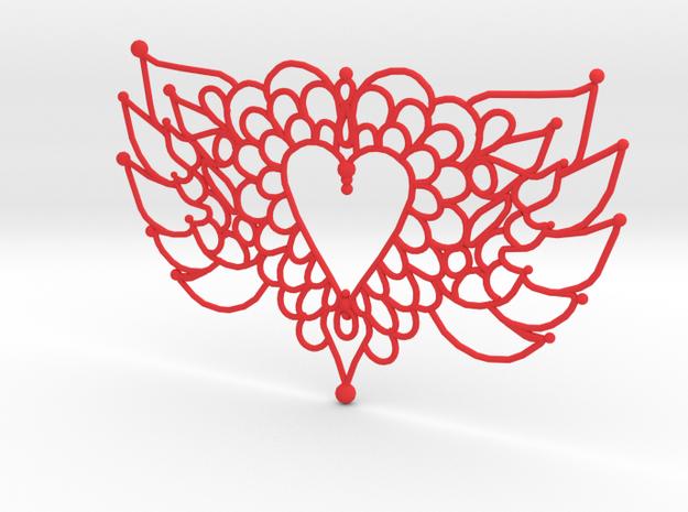 Flying Valentine Doily