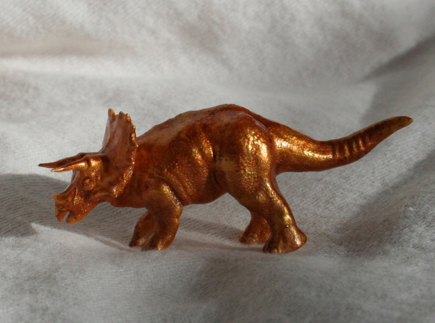 Triceratops Figurine in Frosted Ultra Detail