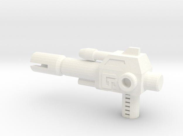 TR: Breakaway Pistol in White Strong & Flexible Polished