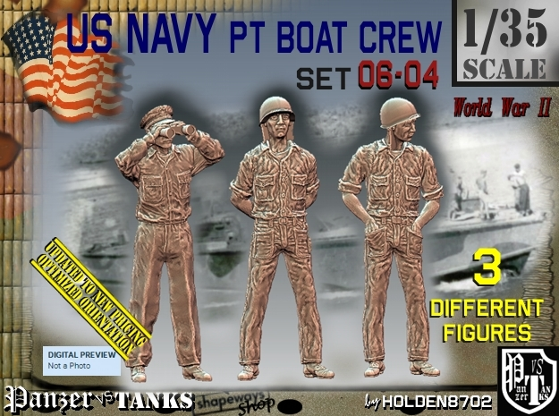 1/35 USN PT Crew Set06-04 in Frosted Ultra Detail