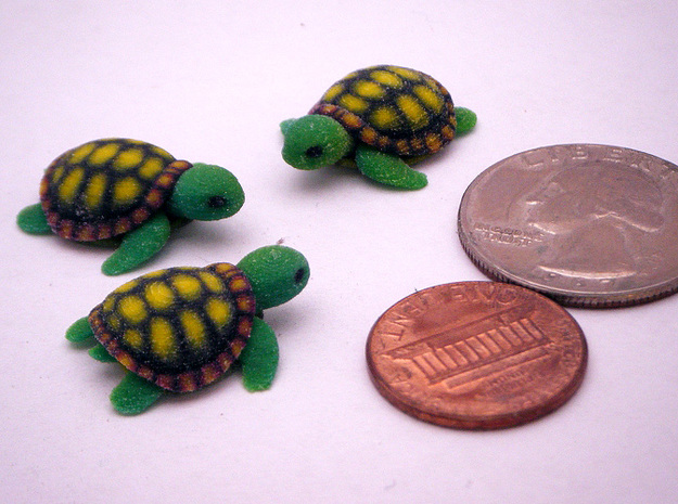 Little Turtle (3 pieces bundle) 3d printed