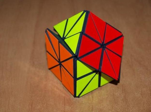48 Cube 3d printed Turning a diagonal