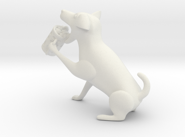 Drinking dog in White Natural Versatile Plastic