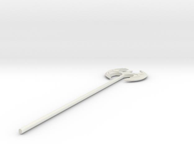 Fancy Battleaxe in White Natural Versatile Plastic