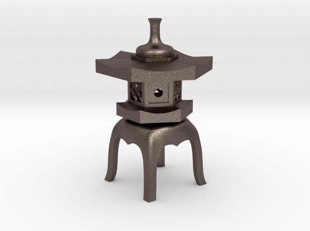 Yukimi-doro (steel) in Polished Bronzed Silver Steel
