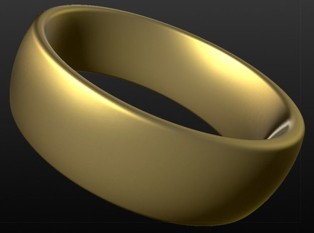 Wedding ring for male 20mm in 18k Gold Plated