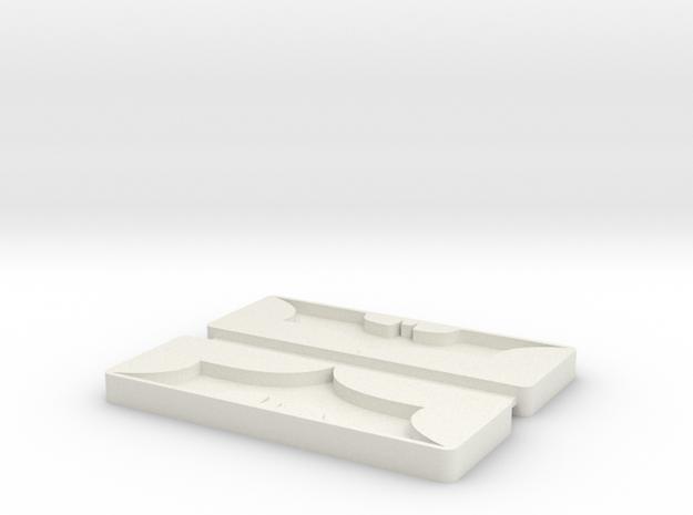 Batman Mold Tray in White Strong & Flexible