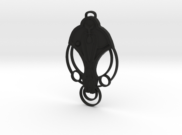 For Cardassia Festoon Pendant in Black Natural Versatile Plastic