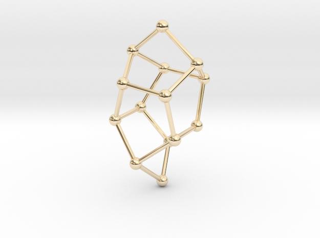 Pentasil Pendant in 14k Gold Plated Brass
