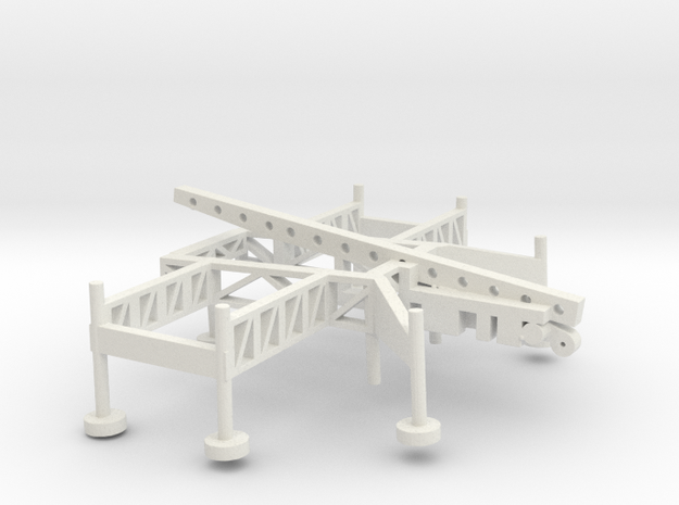 1/144 Scale Nike Missile Launch Pad in White Natural Versatile Plastic