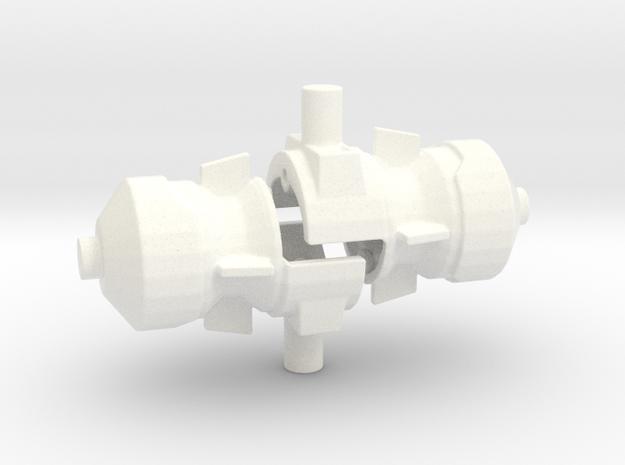 FoC Combiner Wars Magnus Hammer/Launcher in White Processed Versatile Plastic