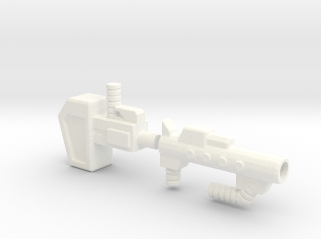 FoC OR Combiner Wars Ultra Magnus Gun OR Hammer in White Processed Versatile Plastic