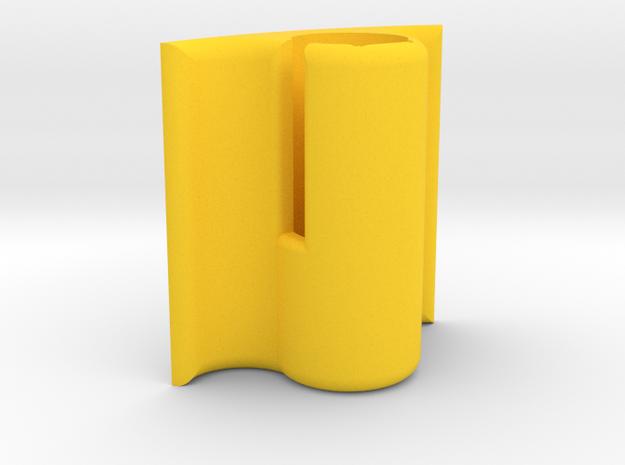 Sony ECM-CS3 Helmet Mic Holder (Front Mount) in Yellow Strong & Flexible Polished
